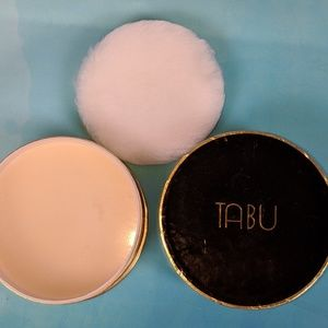Vintage TABU Dusting Powder Still Sealed 2.5 oz